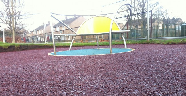 Bonded Rubber Mulch in Abernant