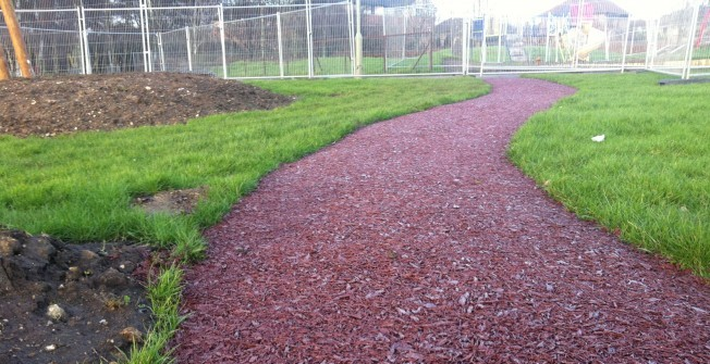 Rhino Mulch for Pathways in West Barns