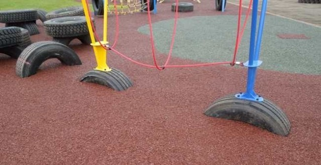 Recycled Rubber Mulch Spec for Play Areas in Abbotsley